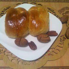中种碧根果老面包的做法