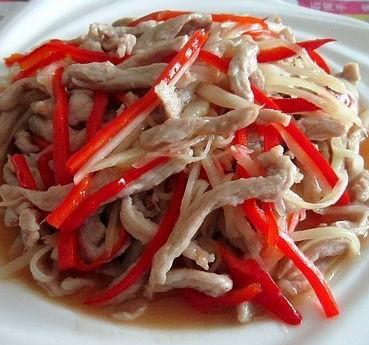 子姜炒肉丝