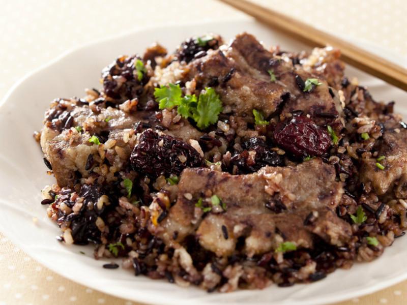 紫米肉骨饭