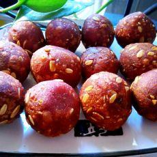 紫薯麦片丸子