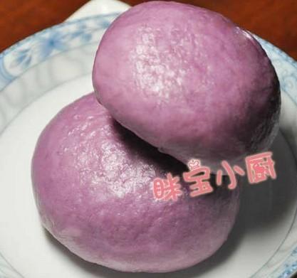 紫薯奶黄包