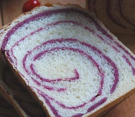 紫薯圈圈吐司