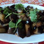 紫苏豆豉焖茄子