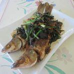 紫苏香煎鱼