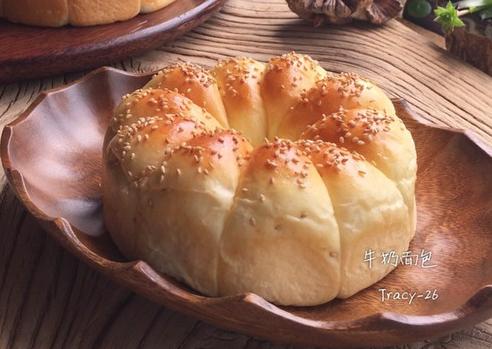 自制牛奶面包