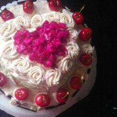 自制水果奶油蛋糕