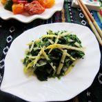 荠菜拌笋丝的做法