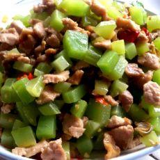 莴笋儿菜肉