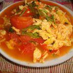 芫香西红柿炒鸡蛋