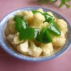 蚝油青椒烧花菜的做法