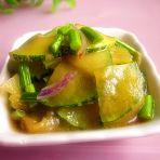 蚝油蒜薹南瓜片的做法