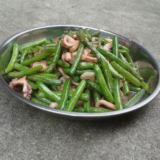 鱿鱼炒长豆