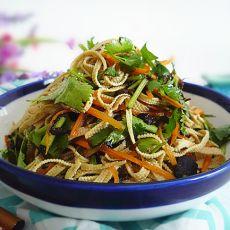 橄榄菜拌豆皮的做法