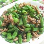 橄榄菜四季豆肉丝的做法