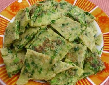 莴苣叶煎饼的做法