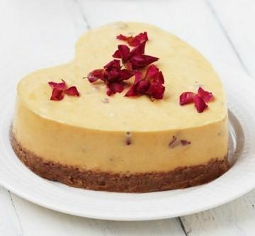 玫瑰芝士蛋糕的食谱封面
